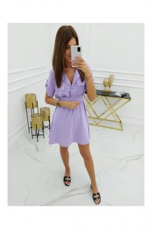 Dress Sukienka Model Nicea Lavenda - Vittoria Ventini