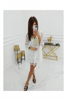 Dress Sukienka Model Mayca Cotton HY1036 White - Vittoria Ventini