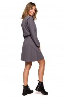 Dress Sukienka Model B208 Antracyt - BE