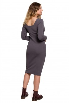 Dress Sukienka Model B207 Antracyt - BE