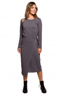 Dress Sukienka Model B206 Antracyt - BE