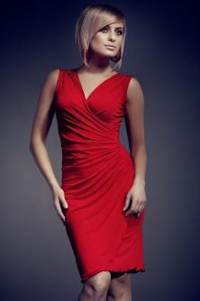 Dress sukienka 053 czerwona - Figl